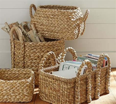 Diskon Plastik Soft Handle Oval 30 X 40 Cm beachcomber oval basket pottery barn