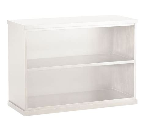 white two shelf bookcase bedford 2 shelf bookcase pottery barn
