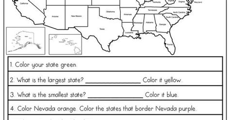 printable maps for elementary students free us map elementary worksheet homeed h g ss