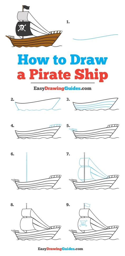pirate boat drawing easy how to draw a pirate ship really easy drawing tutorial