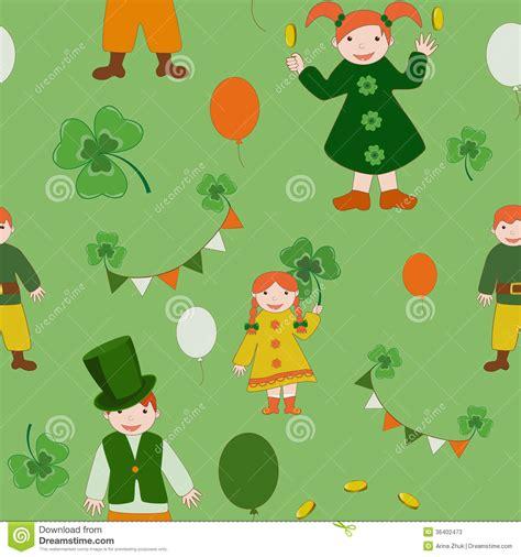 cute kid pattern saint patricks day cute kids pattern stock photos image