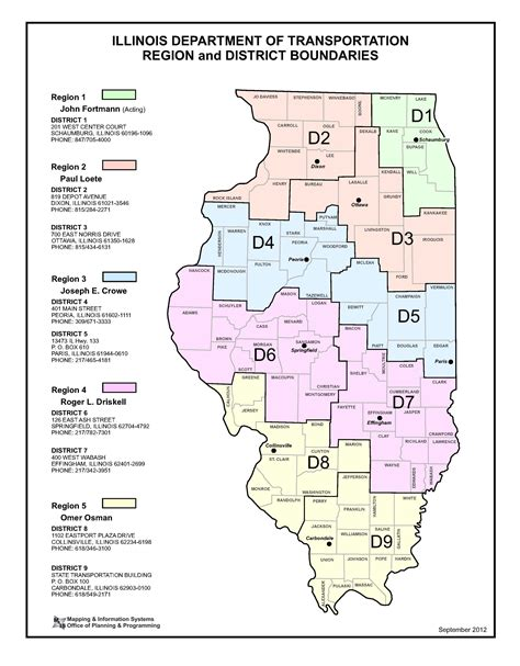 Search In Illinois Idot District Map Images