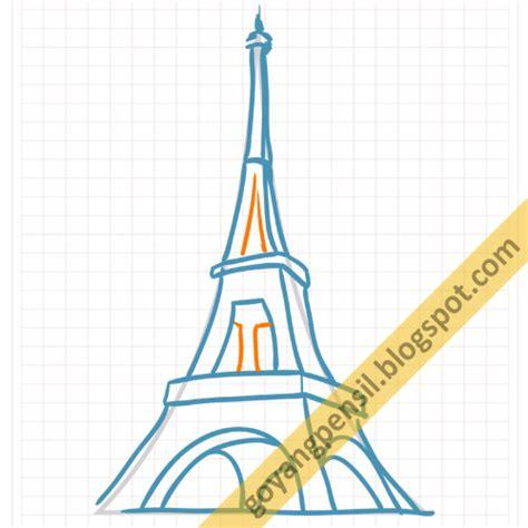 tutorial menggambar sketsa bangunan cara menggambar sketsa menara eiffel goyang pensil