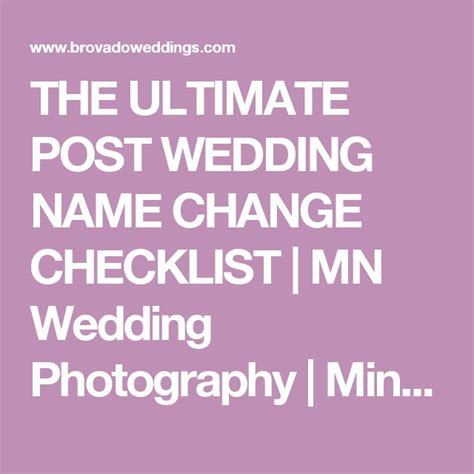 Wedding Name Change by 25 Best Ideas About Name Change Checklist On