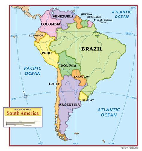 america map in pdf political map south america