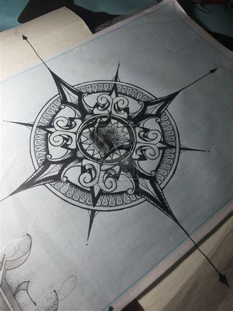 rose compass tattoo designs inky ink on compass compass and