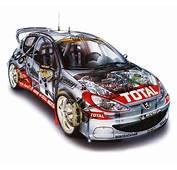 Peugeot 205 Turbo 16 WRC 2001 Cars Technical Cutaway