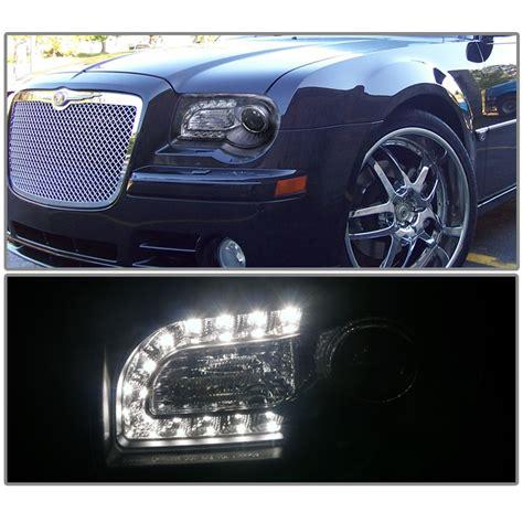 Chrysler 300c Headlights by 2005 2010 Chrysler 300c Led Drl Projector Headlights
