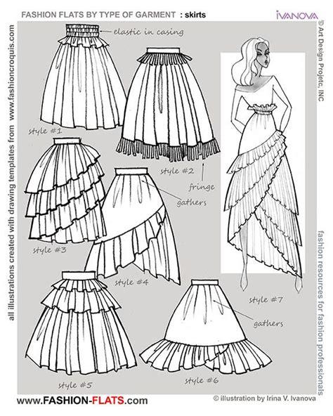 fashion illustration skirts flared skirts drawing tutorials flats