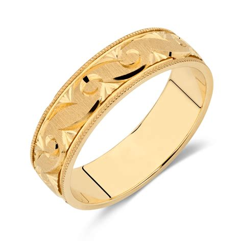 s wedding band in 10ct yellow gold