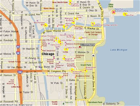 map of downtown chicago downtown map