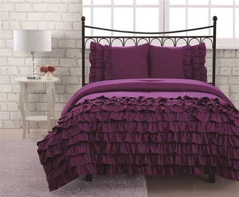 purple twin comforter sets purple comforter sets queen pieces purple with black
