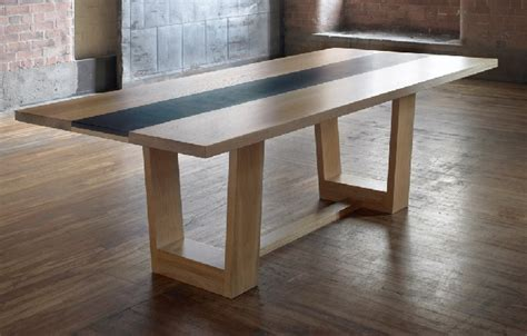 slate outdoor dining table oak and slate dining table bespoke luxury furniture