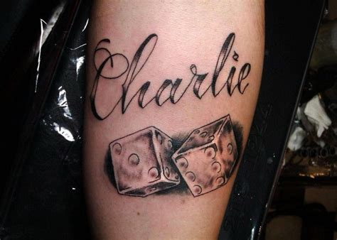 charlie tattoo designs quote with dice on arm tattooimages biz