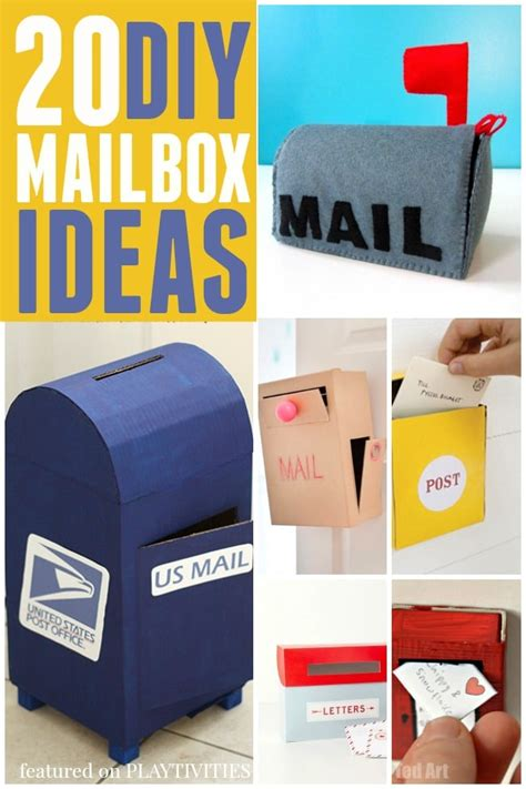 How To Make Post Box With Chart Paper - 20 cutest mailbox ideas playtivities