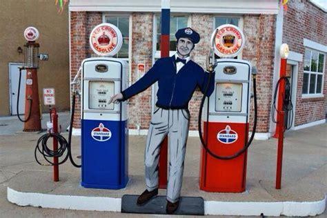 cut out gas quot attendant quot figure manning the pumps at a