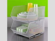 Silver Mesh Stackable Storage Bins | The Container Store $100 Bill Stack