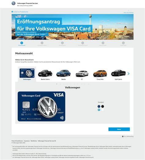 kreditkarte volkswagen bank volkswagen bank visa kreditkarte