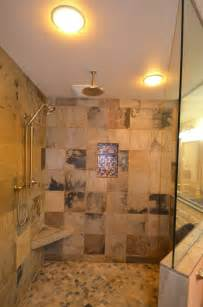 large door less tile shower custom details ceiling rain head best ideas about bathroom showers pinterest