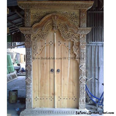 pintu rumah gebyok ukiran bahan kayu jati berkah jati furniture berkah jati furniture