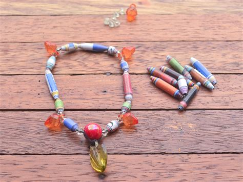 how to make recycled jewelry how to make recycled paper bracelets 8 steps with pictures