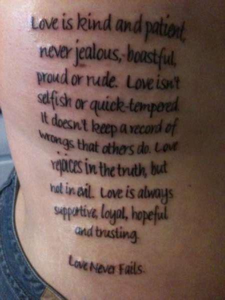 love is patient tattoo is patient