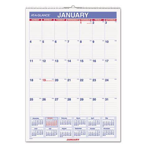 Erasable Wall Calendar At A Glance Pmlm0228 Erasable Wall Calendar