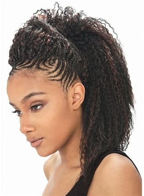 Braided Hairstyles For With Hair by Gorgeous Black Braided Hairstyles For Medium Hair