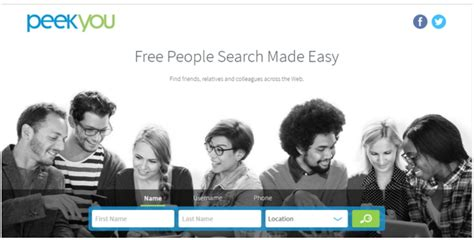 Best Search Engine To Find Free Peekyou Free Search Engine