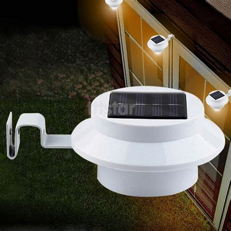 solar powered outside lights bright yard l solar panel garden light 3 led