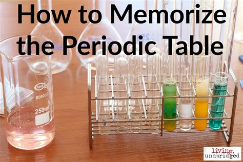 How To Memorize Periodic Table by How To Memorize The Periodic Table Living Unabridged