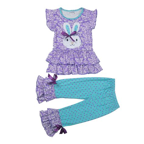 dot pattern clothes easter day outfit new arrival spring girls clothing set