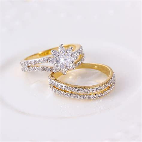 Set Xuping Gold New Juni 11387 xuping 2pcs set multicolor gold new model wedding ring rings buy rings