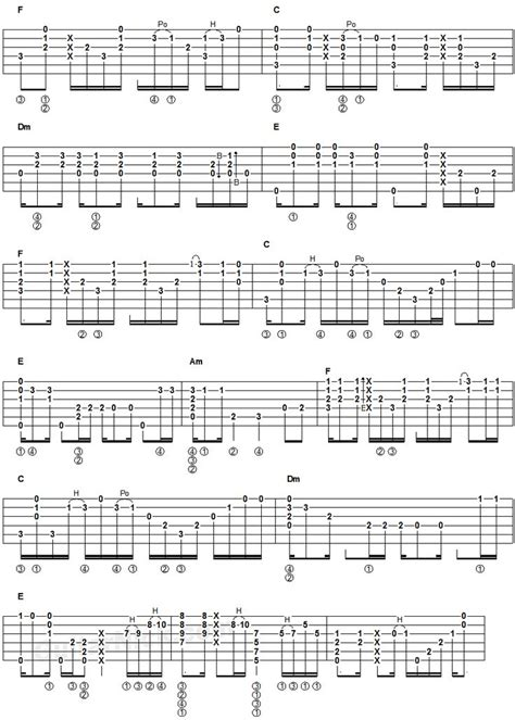 tutorial de fingerstyle 17 meilleures id 233 es 224 propos de hotel california guitar