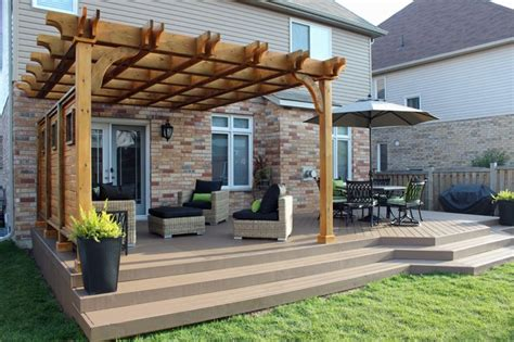 pergola with privacy pergola and deck extension with privacy screen