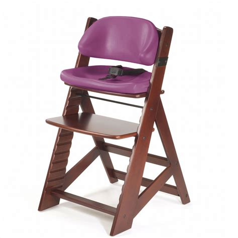 Chair Seat Height by Keekaroo Height Right Chair Comfort Cushion Mahogany