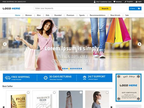 layout css free download full width ecommerce website templates free psd download