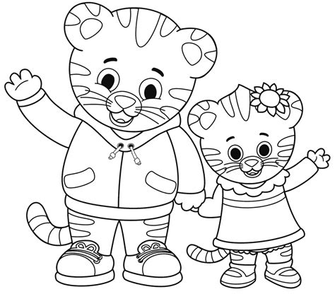 daniel tiger coloring pages daniel tiger s neighborhood coloring pages free free