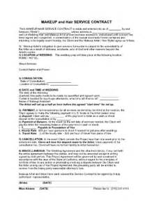 Makeup hair contract fill online printable fillable blank
