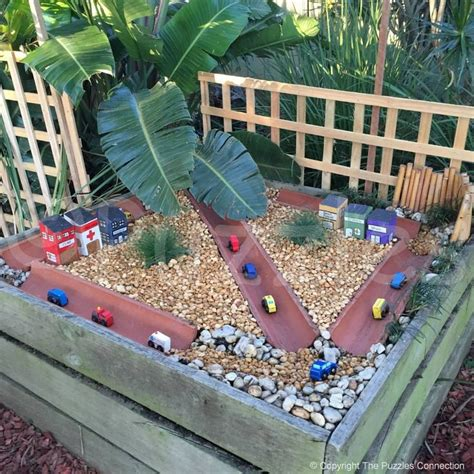 Play Ideas Using Recycled Materials Outdoor Play Plays Preschool Garden Ideas