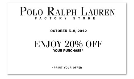 printable polo outlet coupons factory store outlet coupons polo ralph lauren new