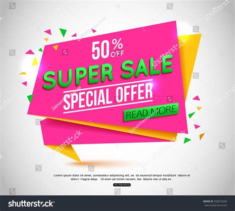 banner layout sle sale banner design sale tag can stock vector 358072040