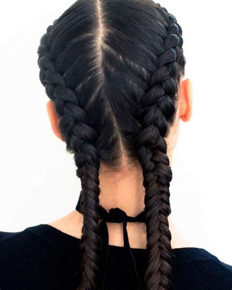 a braid of hair french braids 2018 mermaid half up side fishtail etc