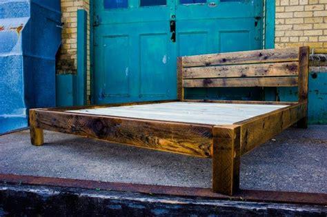rustic wood platform bed reclaimed wood platform bed platform beds by ingvald