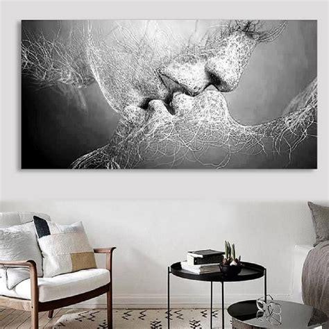 mes amours mes 233 toiles tableau peinture 224 huile toile baiser d amour noir blanc