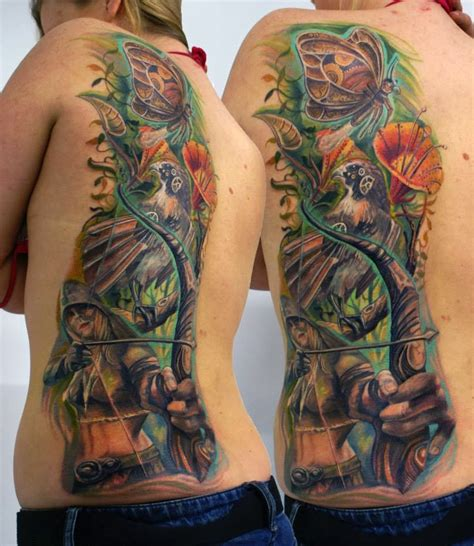 image gallery half back tattoos