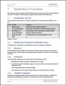 maintenance procedure template maintenance plan template