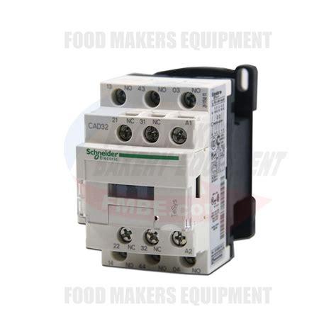 schneider cad32 contactor 10 s coil 24v relay