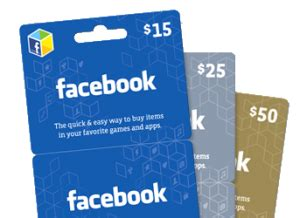 Gift Cards On Facebook - getting free facebook credits fast