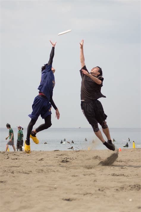 layout beach ultimate tournament ultimate frisbee is relatively popular in japan this shot